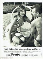 PUBLICITE ADVERTISING 036  1959  Pento  lotion cheveux