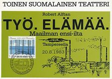 Finland 1983 FDC Maxi Card - The Second Finnish Language Theater at Tampere