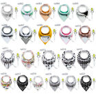 Baby Infant Toddler Cotton Triangle Bandana Bibs Saliva Towel with Pacifier Clip
