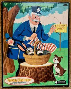 CAPTAIN KANGAROO Frame Tray Puzzle 1960 #4446 Picnic Area Keeshan Whitman