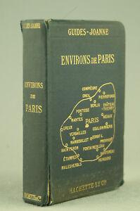 JOANNE 1921 Environs de Paris Guide voyage ancien Hachette cartes plans livre