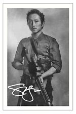 Steven Yeun The Walking Dead Season 6 Signed 6x4 Photo Print Glenn Rhee