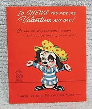 Vintage American Greetings Valentine Card Humorous Anthropomorphic Dog FREE S/H