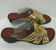 AUDITIONS - Tango - Metallic - Leather - Woven Sandals - With Box - New - Sz. 5M