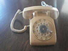 VINTAGE YELLOW ROTARY TELEPHONE