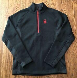 Spyder Outbound 1/2 Zip Sweater Mens Medium Black Ski Snowboard Jacket