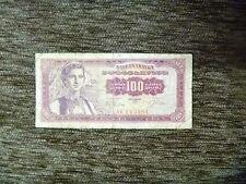 Yugoslavia 100 dinara  1963 banknote rare