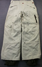 Columbia Titanium Mens White Insulated Adj Omni-Tech Cargo Ski Pants  M  34 x 31
