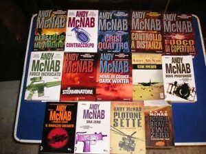 Lotto Blocco 14 libri romanzi tutti di ANDY MCNAB avventura guerra militare