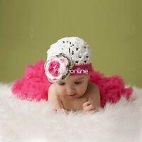 Neugeborenes Baby Kleid Häkel Kostüm Baby Outfits Fotoshooting Rock Tütü mit Hut