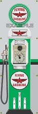 "FLYING ""A"" OLD TOKHEIM GAS PUMP CLOCKFACE BANNER SIGN MURAL GARAGE ART 2' X 6'"