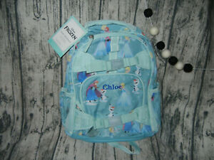 Pottery Barn Kids Princess Disney Frozen  Backpack Teal *Chloe*