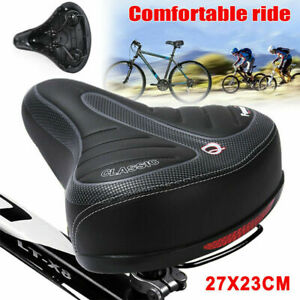 Big Wide Bum Saddle Seat MTB Bike Bicycle Gel Cruiser Extra Comfort Sporty Pad A