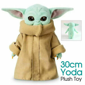 30cm Baby Yoda Plush Toy Master The Mandalorian Force Stuffed Doll Gift For Kids