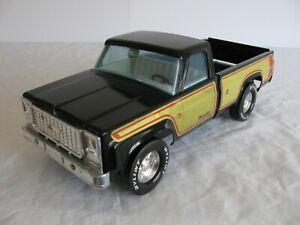 Vintage 70s Nylint Pressed Steel Black & Gold Chevy Pronto Pickup Truck #4120 VG