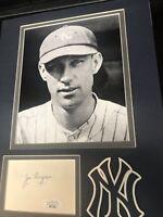 JOE DUGAN 1927 Yankees JSA COA SIGNED  3x5 matted w/ PHOTO SIGNED autograph
