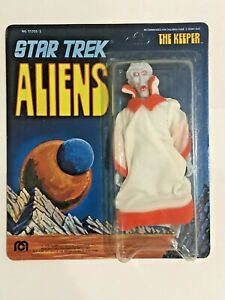 1975 MEGO STAR TREK ALIEN THE KEEPER ACTION FIGURE NEW ON UNPUNCHED CARD READ!!
