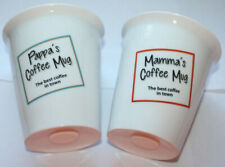 Mamma Pappa Coffe mug set - The Best Coffe in town - double-walled thermo mugs