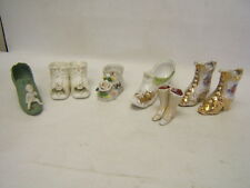 Lot of 7 Vintage Decorative Collectible China Boots Shoes