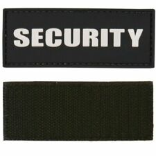 Tactical Security Patch PVC Badge ID Hook and Loop Velcro Rubber Morale Guard UK