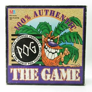 POG The Game - POGS Board Game W/POG Set Game in Good Condition.
