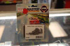 N Scale GHQ 53007 - Utility Trailer w/Bobcat - 100% Britannia Pewter kit * NIB