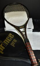 """PRINCE Pro Tennis Racquet 1983 Grip 4 1/2"""" One Gold Stripe With Case"""