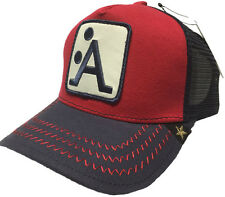 NEW GOLD STAR RED/NAVY BLUE- ANIMAL FARM 'A' TRUCKER HAT 2 MEANING CAP GOLD STAR