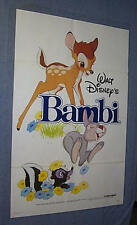 Original DISNEY Original BAMBI 1 Sheet near mint 1982 Release