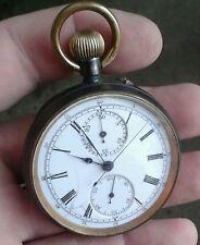 """Un buon lavoro"""""""", in anticipo Antico Cronografo Orologio da taschino, circa 1900 S."""
