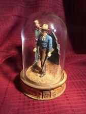 Franklin Mint, Glass Domed John Wayne Collectible- Xow4395- Rifle, Flag Bunting
