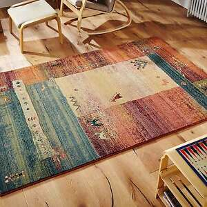 Gabbeh Rugs Tribal Designs In Multi Colours - 217-X - 5 Sizes Including a Runner