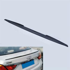 115cm Flexible PU Car Rear Roof Trunk Spoiler Lip Tail Wing Black Self-adhesive