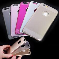 FINO Protector Metal Duro Aluminio Dual 2 capas Funda para iPhone 5s 6 6s