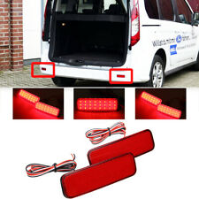 2x LED Rear Bumper Reflector Brake Light For Ford Transit Custom Connect TOURNEO