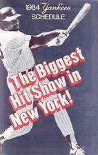 1984 New York Yankees Large Folded Pocket Schedule - Don Baylor