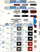 1996 TOYOTA LEXUS AVALON CAMRY 4 RUNNER TACOMA PAINT CHIPS (PPG AND DUPONT)