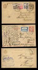 Hongrie papeterie Uprated + cachet illustré 1896-1917... 3 éléments