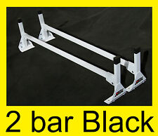 "Cube/Box Truck / Enclosed Trailer 2pc BLACK TOP Mount Ladder Rack 72""-75"" HIGH"