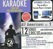 NEW ASK-1558 All Americans Karaoke; Karaoke Edge Bonus Karaoke DVD (Audio CD)