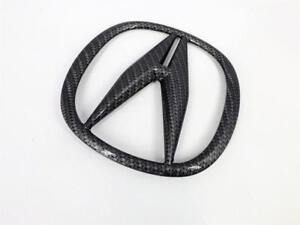 Acura TLX 15-17 Black Carbon Fiber Grille Emblem Badge OEM Front Bumper Logo