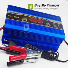 Intelligent 12V 30A Smart Fast Battery Charger Engine Start &LED Display