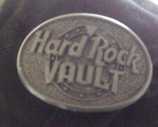 RARE Hard Rock Cafe Vault Orlando Black Baseball Hat Metal Badge