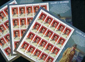 US Scott 3152 Humphrey Bogart Legends of Hollywood 3 MNH Sheets of 20 (WHOLESALE