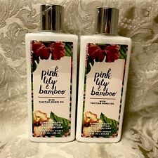 Bath & Body Works Pink Lily & Bamboo Super Smooth Hand & Body Lotion Set