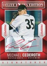 MICHALE CEDEROTH 2014 ELITE EXTRA EDITION PROSPECT RED INK AUTOGRAPHED CARD 5/25