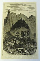 1883 magazine engraving ~ VIEW OF PETER BOTTE MOUNTAINS, Mauritius