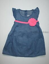 Gymboree Fairy Tale Forest 3-D Flower Chambray Dress Girls 18-24 months NEW NWT