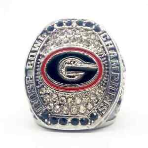 Ring of 2018 Sony Michel #1 Georgia Bulldogs Football Rose Bowl Champions