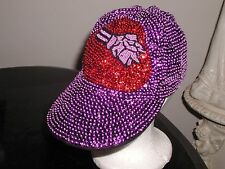 RED HAT SOCIETY CAP WITH HAT LOGO GLITTERING MOTHERS DAY / CHRISTMAS GIFT NEW! !
